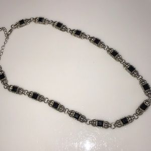 Jewelry - 5/$15 Gorgeous Metal Necklace Silver Black